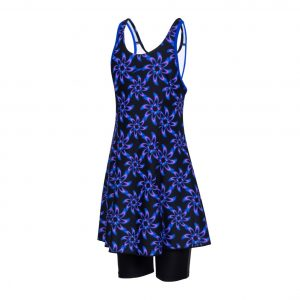 Allover Racerback Swimdress With Boyleg