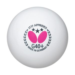 Butterfly G40+ 3-Star Ball White(Pack of 3)