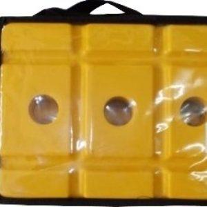 BDM Plastic Bat Stumps with Base, PVC wind Ball & Carry Bag Cricket Kit