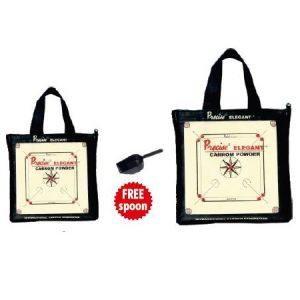Precise Elegant Carrom Powder in Carrom Design Cloth Bag
