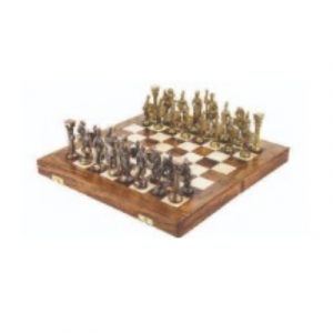 Precise Heritage Brass Chess Set