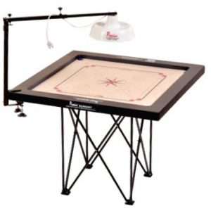 Precise Tournament Carrom Lamp Shade Stand with Electric Fitting