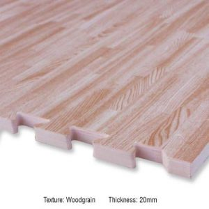 USI W20 WOOD GRAIN INTERLOCK EVA FOAM MAT