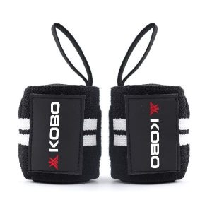 KOBO WTA-04 Weight Lifting Hooks Wrist Support